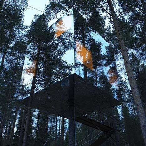 Tree Hotel by Tham and Videgard Arkitekter #mirror #architecture