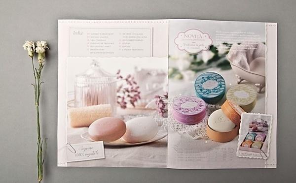 """Catalogue """"Le creazioni della primavera"""" by www.o-zone.it #italia #hp #decor #catalogue #vintage #flower #parfum"""