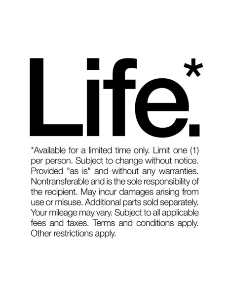 Life.* Available for a limited time only. (White) Art Print #inspiration #quote #helvetica #life #typography