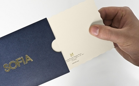 Sofia by Pelli Clarke Pelli Architects on the Behance Network #brand #identity #stationary