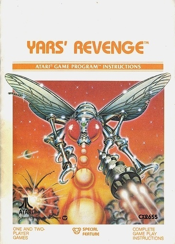Atari - Yar's Revenge | Flickr - Photo Sharing! #games #video #illustration #manual #booklet