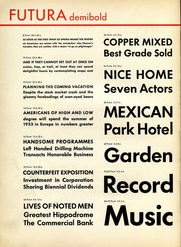 Futura Demibold type specimen #type #specimen #typography