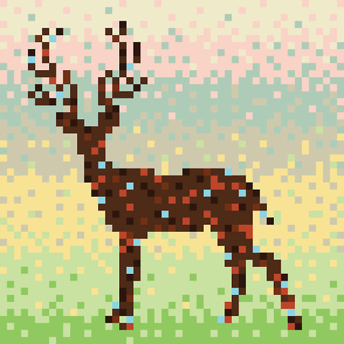 Pixelfy me! Shutterstock rounded up some pixel art over on their blog, perfect look at constructing an image with minimal pixels. Check it o #illlustration #deer #pixel #8bit