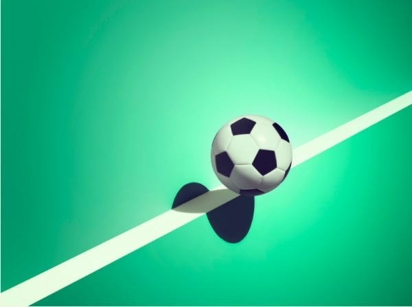 Sports and Surreal Shadows by Kelvin Murray Soccer #photography #illusion #shadow