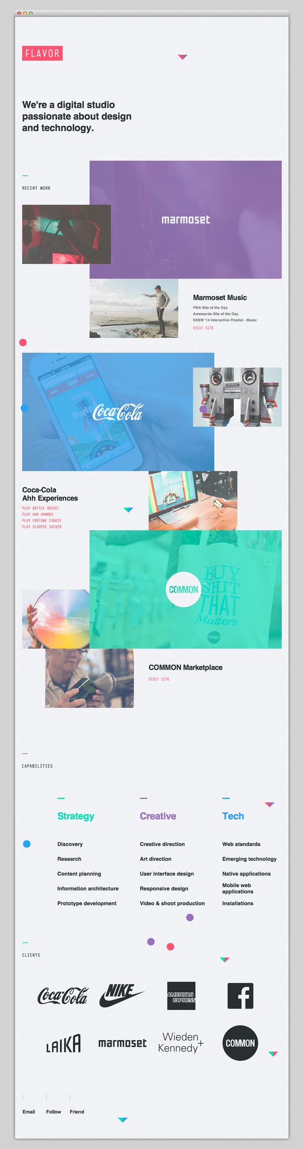 Flavor #website #layout #design #web