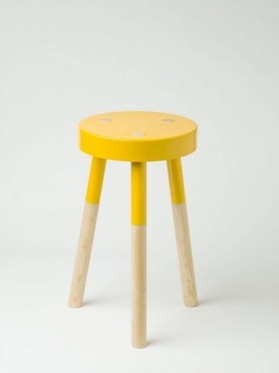Yellow 'Y' Stool by Tim Webber - Douglas + Bec #yellow #stool