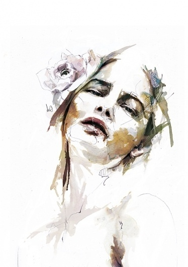 Chapter 01 on the Behance Network #watercolor #portrait #illustraton #painting