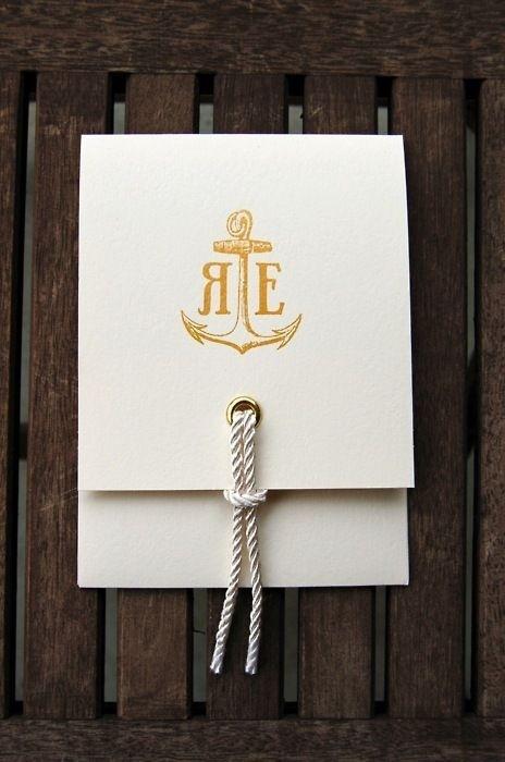Nautical Wedding Invite #invitation #icon #logo #anchor #wedding
