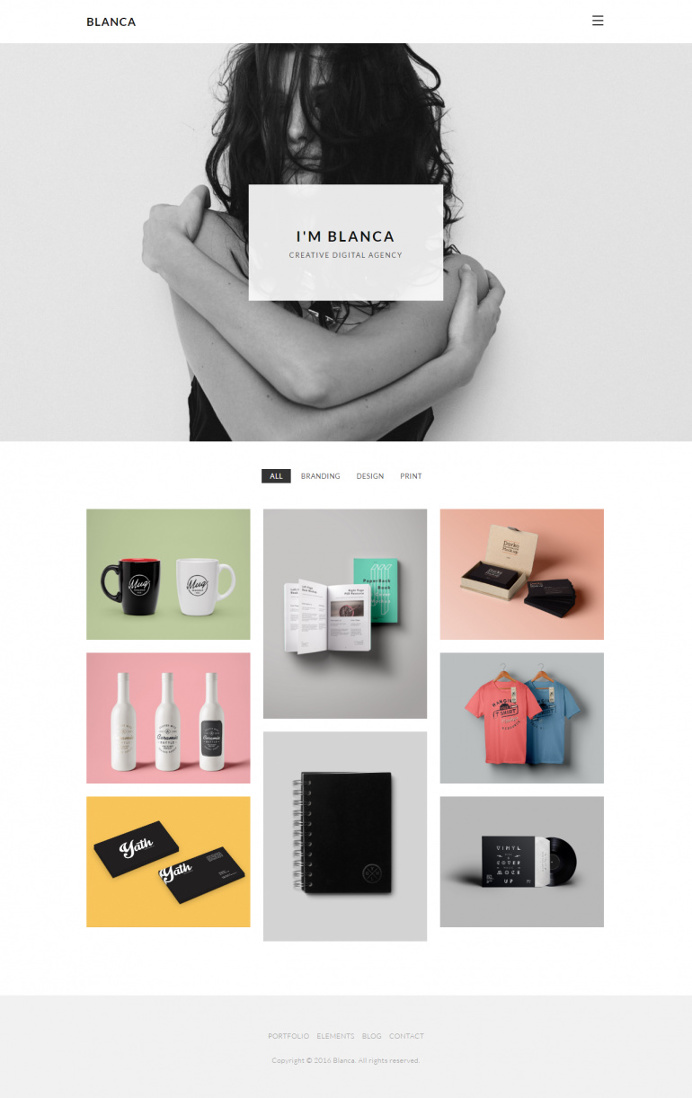 Blanca – Clean and Minimal Portfolio