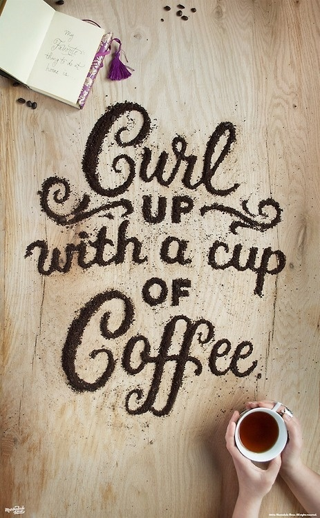 Food type by Danielle Evans. #coffee #typography