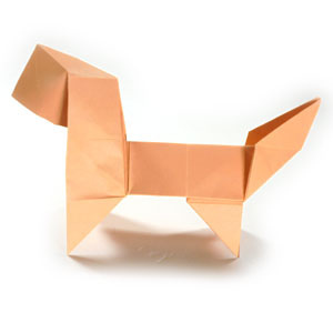 How to make a standing origami puppy dog (http://www.origami-make.org/howto-origami-dog.php)