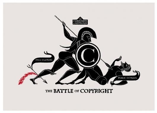 Toutes les tailles   THE BATTLE OF COPYRIGHT 2011 Christopher Dombres   Flickr: partage de photos! #inspiration #print #of #the #copyright #battle #poster