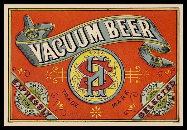 Vacuum Beer label #beer #label #typography