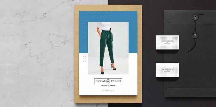 Pascal & Peach Branding #branding #design #inspiration #minimal #fashion #black #handlebranding #stationery #graphicdesign