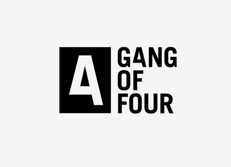 Gang of Four Logo | Shiro to Kuro #logo #branding