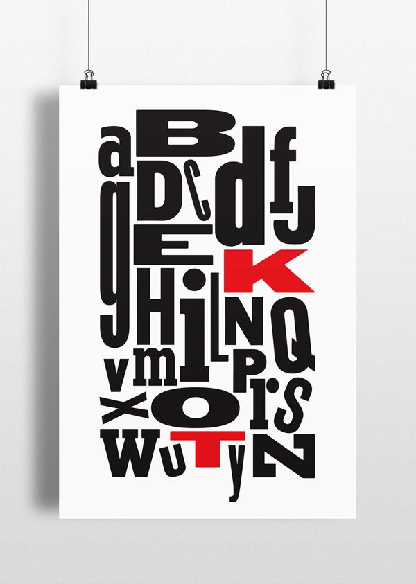 TK Alphabet #type #woodtype #alphabet #vintage