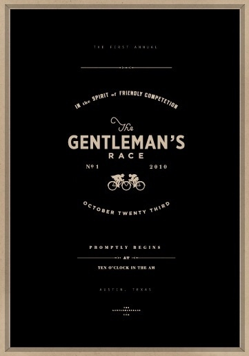 STUDIO #design #graphic #gentleman #poster #race