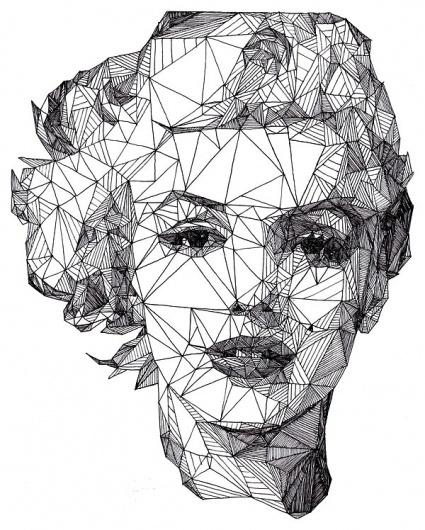 20 awesome and creative portrait ideas » Blog of Francesco Mugnai #illustration #pen #geometric
