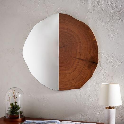 Tree Ring Wall Mirror, West Elm