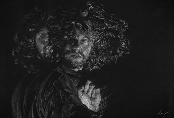 Kevin Yaun #lines #blackwhite #motion #blur #hair #drawing