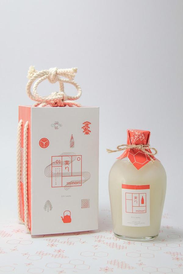 Japanese Minori Sake packaging design #japan #design #sake #packaging #minimalistic #japan #design #sake #packaging #minimalistic