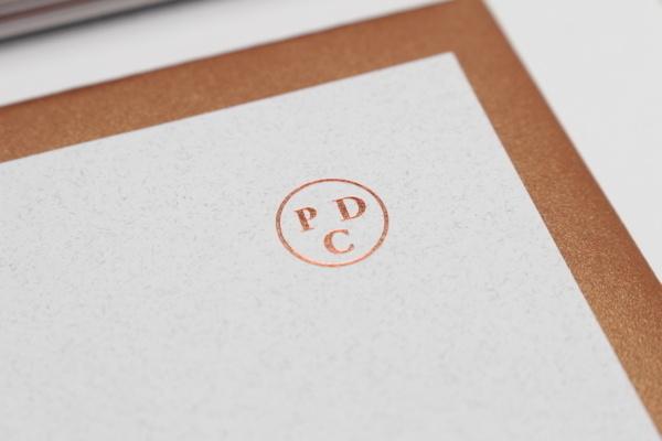 Pure Design Consultancy #branding #copper #marque #identity #passport #logo #metallic #foil