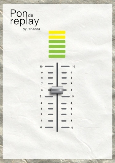 100 days, songs, posters just one designer #inspiration #minimalistic #design #graphic #poster #music