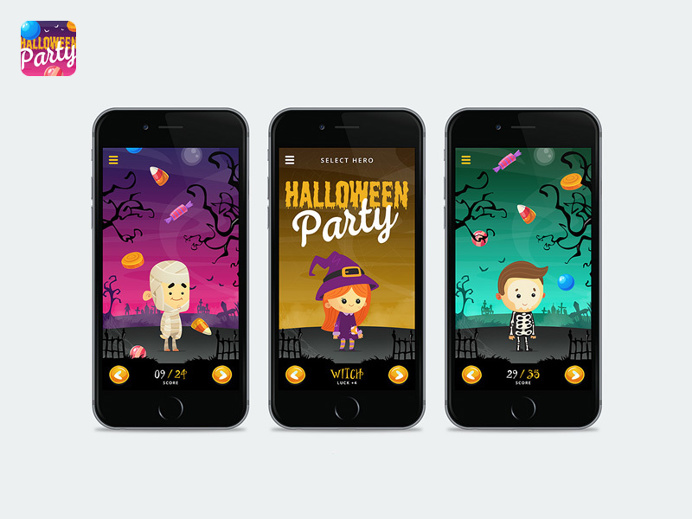 Although the #Halloween has passed, here is a stunning and vibrant mobile #game kit based on the past event with lots of #illustrations.