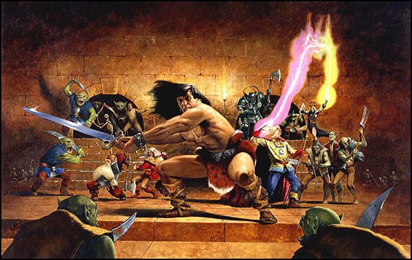 HeroQuest Game Cover Illustration #heroquest #board #role #advanced #play #game #awesome