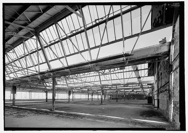 Ford Richmond Assembly Plant VIEW TO NORTHWEST OF SECOND FLOOR ASSEMBLY AREA FROM NEAR MIDDLE OF EAST WALL. VIEW SHOWS DETAIL OF NORTH FACIN #factories #structure #roofs #architecture #sawtooth
