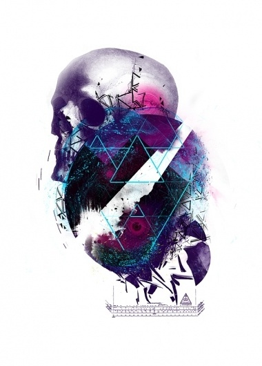 Random Graphic collection on the Behance Network #circle #line #white #couteaux #triangle #purple #blue #skull #mink