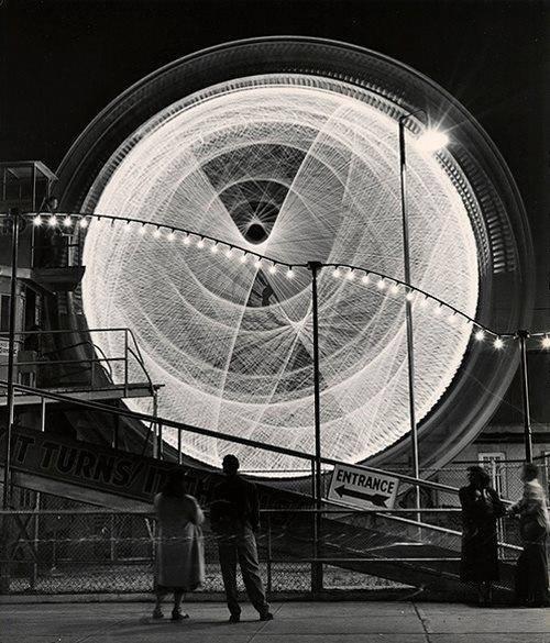 Coney Island, 1949, photo byAndreas Feiningerviaedlorado #white #coney #black #island #photography #vintage #and #america