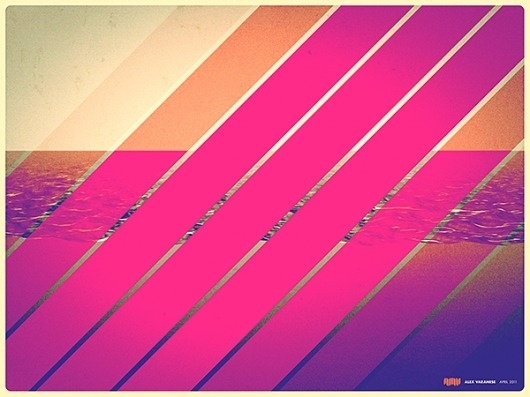 Inside the Edge on the Behance Network #poster #pink #art