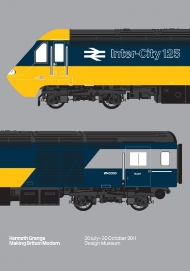 Design Museum Shop: View All Products > Artwork + Posters > Intercity 125 Print #train #british #grange #museum #kenneth #design #rail