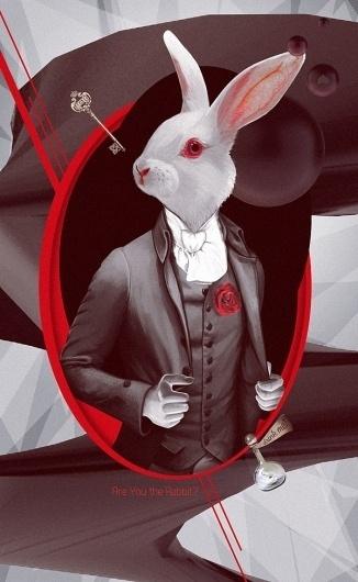Rabbit on the Behance Network #illustration