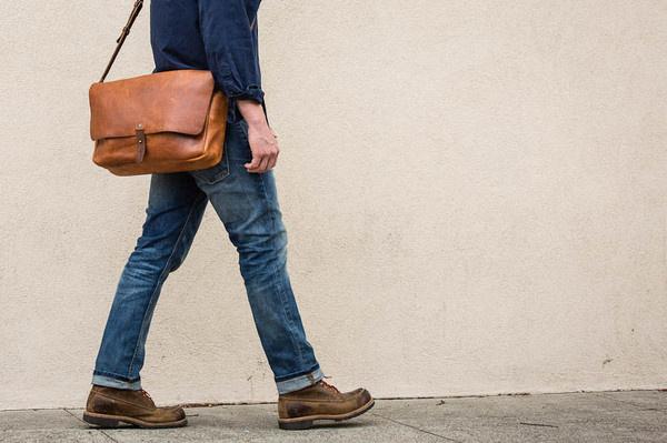 The Vintage Messenger Bag #bag #leather