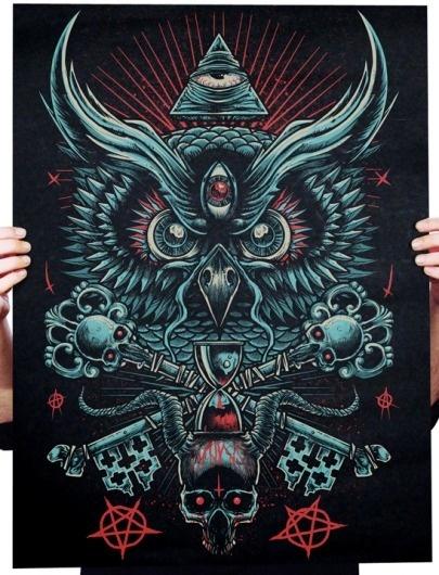9.png (imagem PNG, 548×716 pixels) #illustration #machine #owl #god