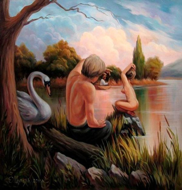 Incredible Optical Illusions by Oleg Shuplyak #optical #illusions #paintings
