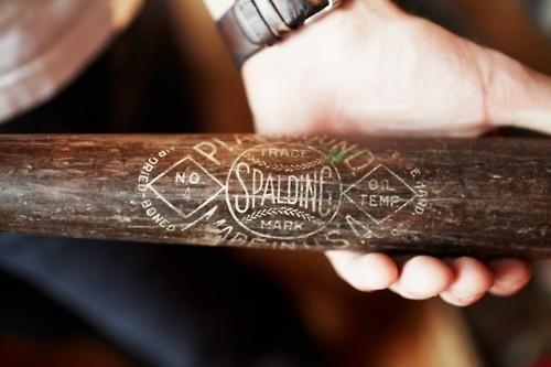 Vintage Me Oh My - Part 3 #wood #bat #spalding #vintage #typography