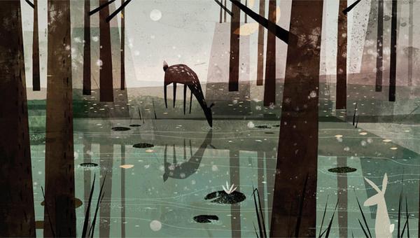 Deer - Jon Klassen #illustration #deer #jon #klassen