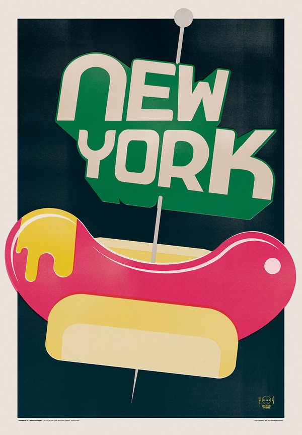 Expedia Travel Posters #dog #typography #design #hot #illustration #poster #york #new
