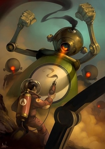 COOL SHOWCASE - Digital Art - Robot on illustration #illustration