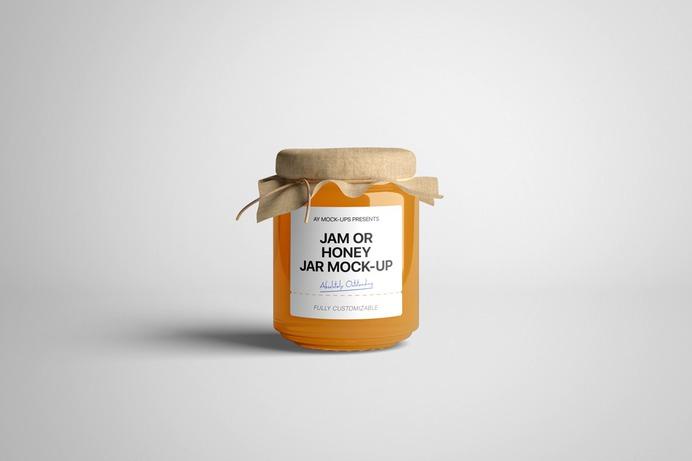 free-jam-honey-jar-mockup-psd