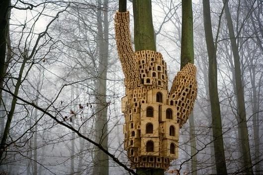 Spontaneous City in the Tree of Heaven by London Fieldworks | Yatzer™ #london #design #birds #birdhouse #architecture #art #fieldworksm