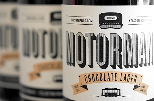 Freshthrills : Motorman Chocolate Lager #packaging #design #graphic #typography