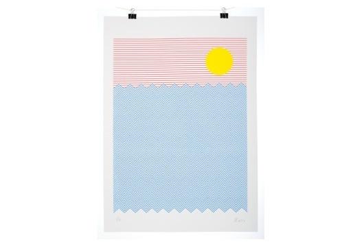 Print Club - screenprint #tropical #print #stu #screen #illustration #poster #ross