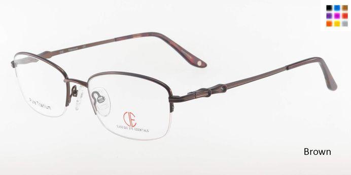 Brown CIE SEC306T Eyeglasses.