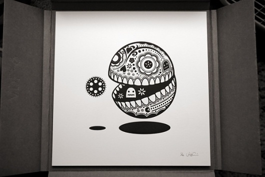 Pop-Culture Calavera Prints   Colossal #white #koshi #black #illustration #jonathan #and