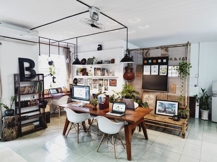 workplace, studio, interior, workspace, office, vietnam, bratus agency, bratus
