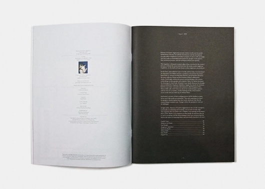 PATTERNS OF CREATIVE AGGRESSION - ISSUE 2 #of #contents #layout #table #editorial #magazine